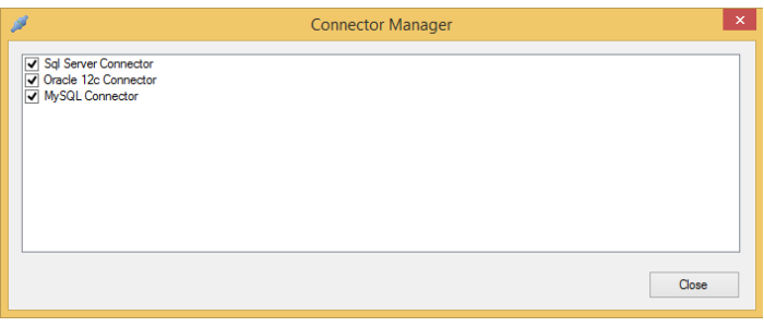 Connector manager dialog box
