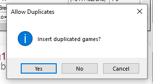 Discard duplicated games option