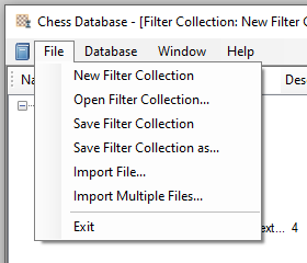 Filter collection files options