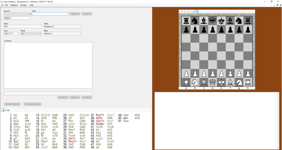 Chess match editor