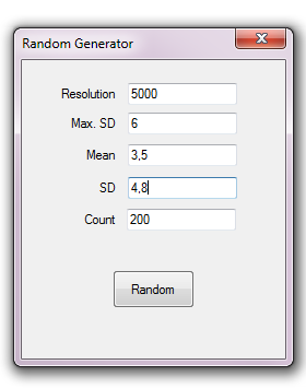 Random generator sample application