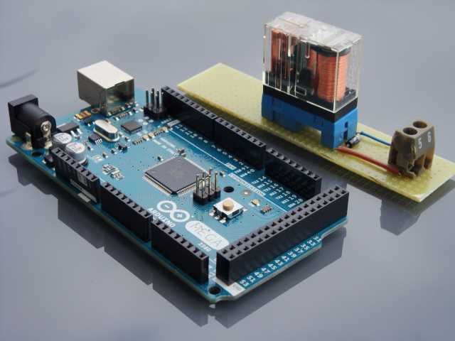 Arduino board and relay