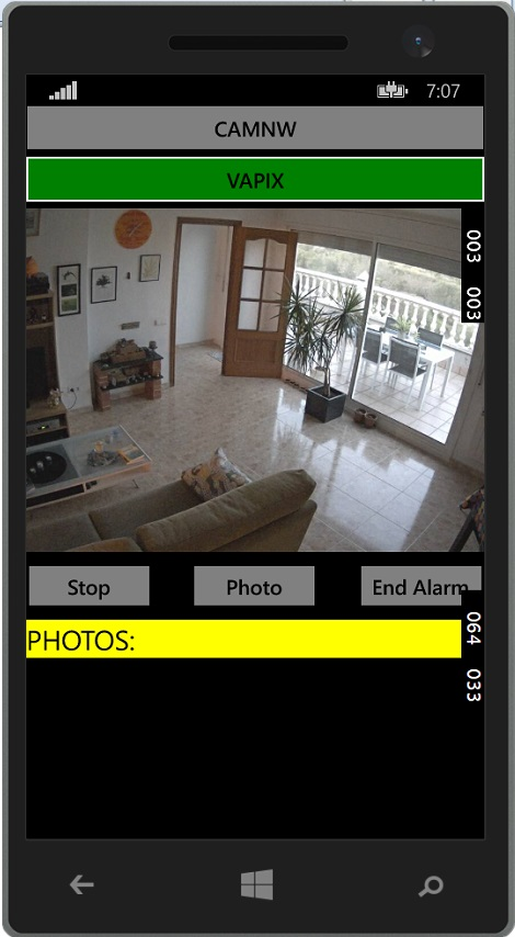 Camera image on the client App