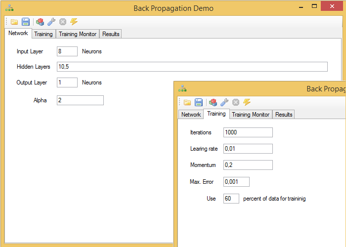 BackPropagationDemo configuration
