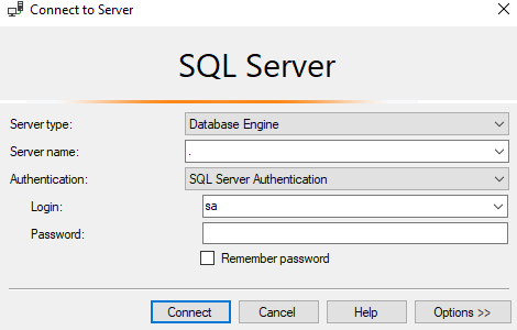 Conectar con la base de datos SQL Server